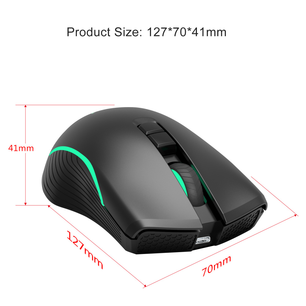 Image 4 - ZERODATE new TYPE C fast charging mouse wireless mouse 2.4G colorful breathing light black suitable for notebook desktop PC-in Mice from Computer & Office