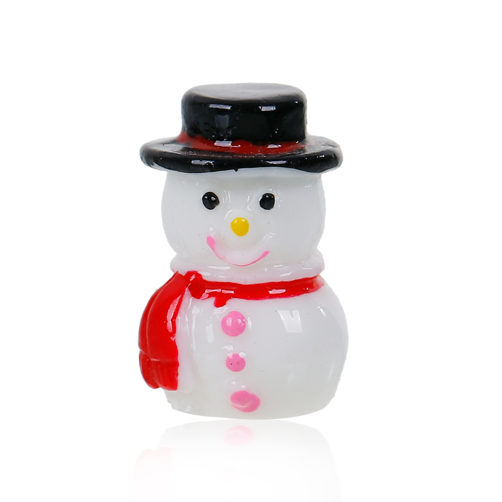 Snowman hats for crafts - 1pc Lovely White Snowman With Black Hat Red Scarf Home Decorations Crafts Bedroom Decor Christmas