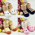 Meias bebê Recém-nascido Meias Antiderrapante 0-12 Meses Sapatos Animal Dos Desenhos Animados Chinelos Botas de Algodão Encantador Bonito Da Menina do Menino Unisex Meias antiderrapantes