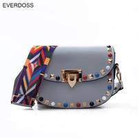 Fashion Women Messenger Bags Turquoise Rivet Design Female Handbags Crossbody Bag Women Clutches Bolsas Femininas Dollar