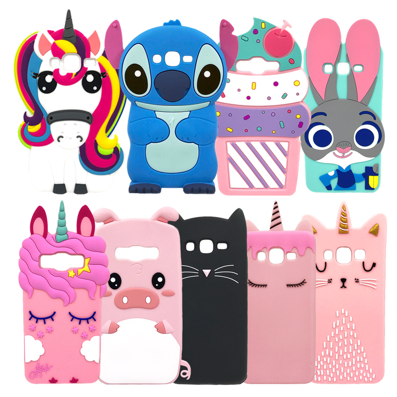 Cartoon 3D Cat Stitch Rabbit Minnie Soft Silicone Phone Cover For Samsung Galaxy Grand Prime G531 G531H G531F G530 G530H Case