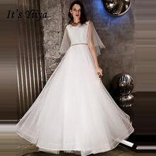 eca277a5e1a701d Это YiiYa вечернее платье 2018 Блестящий блестками v-образным вырезом белый  А-силуэт на шнуровке в Пол Вечерние платья LX1292 ro.