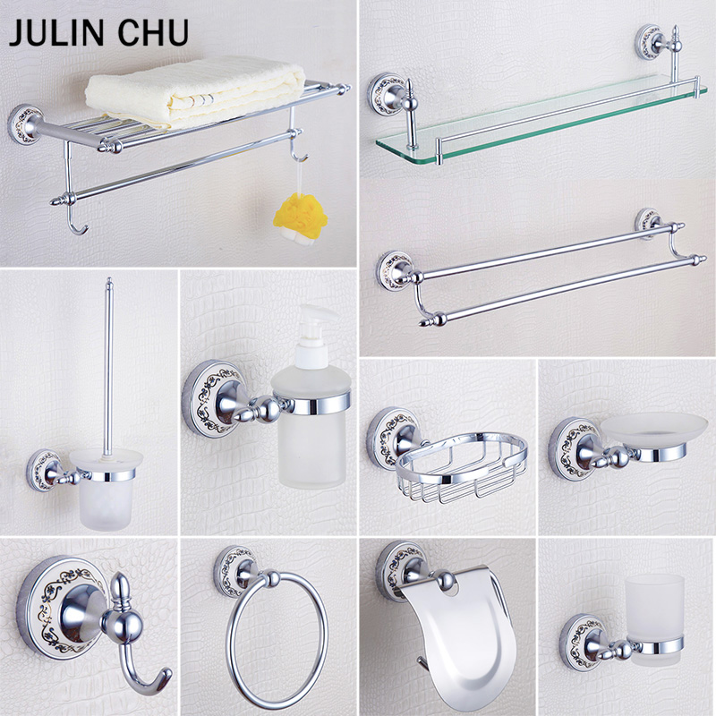 Chrome Bathroom Hardware Set 304 Stainless Steel Copper Shower Soap Dish Towel Rack Shelf Paper Holder for Bathroom Accessories