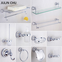 Chrome Bathroom Hardware Set 304 Stainless Steel Copper Shower Soap Dish Towel Rack Shelf Paper Holder for Bathroom Accessories