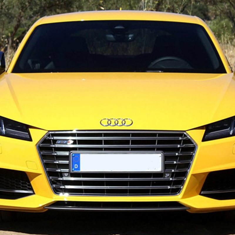 ᓂtt Chrome Frame Gray Auto Car Front Racing Grill Grille For Audi