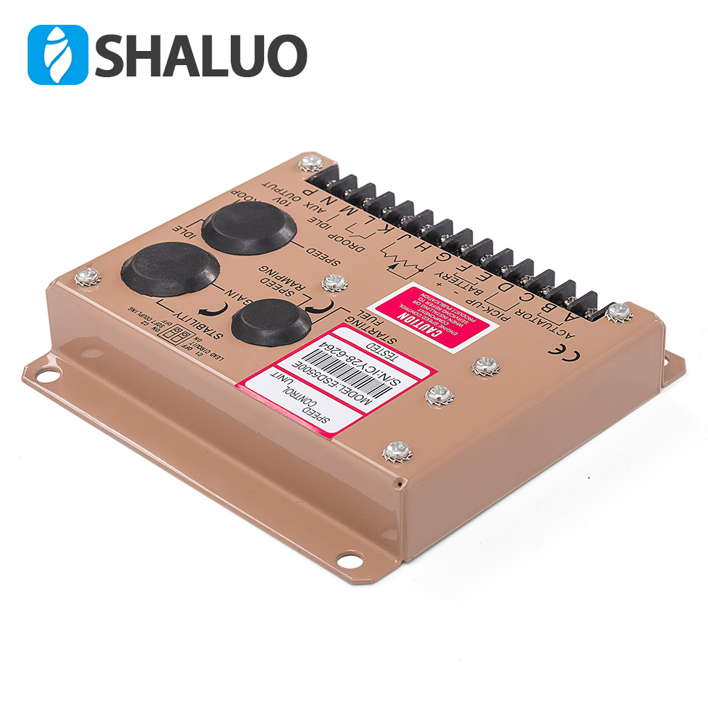US $104 72 12% OFF|Cheaper 5500E Speed Controller diesel generator engine  actuator govornor brushless genset part DC motor control circuit board -in