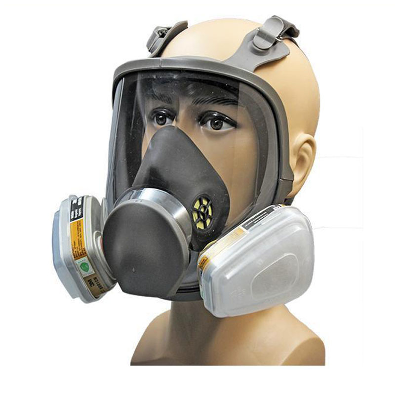 full face gas mask chemical respirator against organic vapor chlorine gas benzene kr006 in. Black Bedroom Furniture Sets. Home Design Ideas