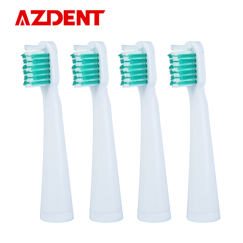 AZdent 4 Pcs/Pack Toothbrush Heads Suit For AZ-06 Electric Toothbrushes Head Replacement Oral Hygiene 4 pcs lot replace toothbrush heads for philips sonicare diamond clean p hx6074 hx6074 toothbrushes head oral hygiene