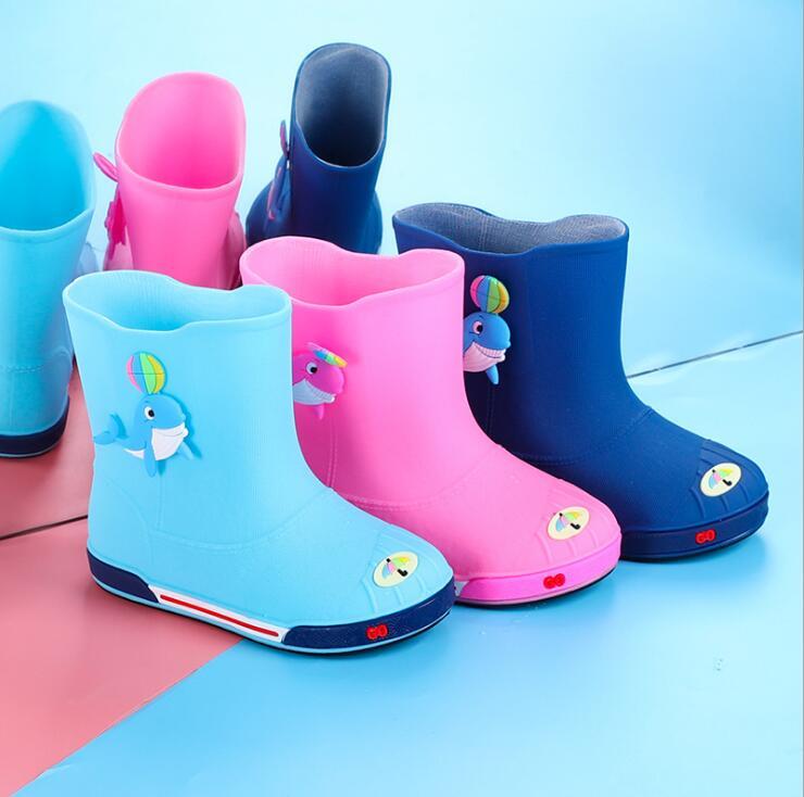 Four Seasons Removable Boys Girls Cartoon Rain Boots Kids Rain Boots Waterproof Baby Non-slip Rubber Water Shoe Child Rainboots