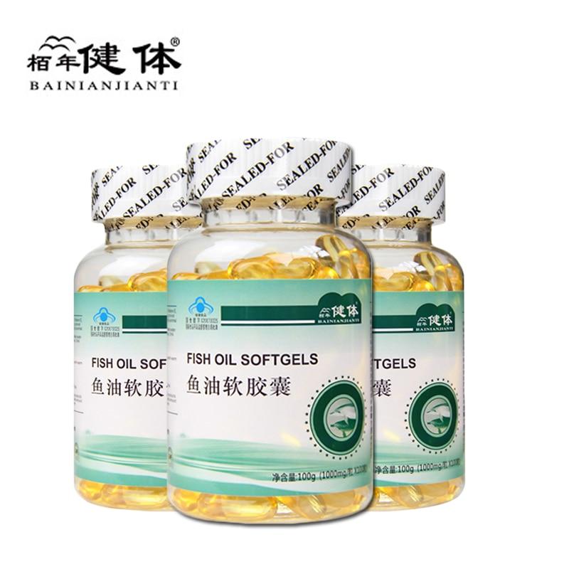 3Pcs/Set Fish Oil Omega 3 DHA EPA High Quality Deap Sea Capsul Hypolipidemic