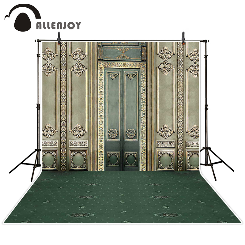 Allenjoy photographic background Retro palace gate backdrops children princess digital summer 10x10ft