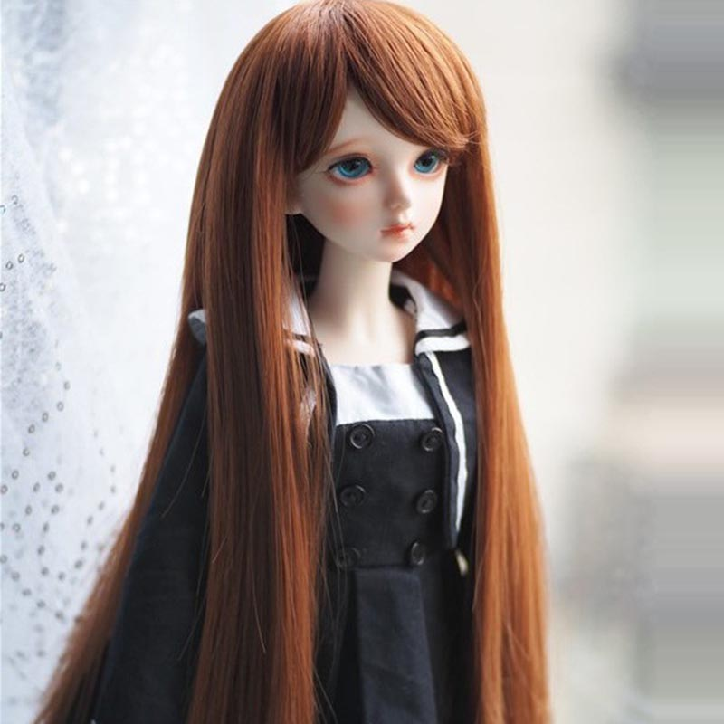 2017 Free Shipping 1/3 1/4 1/6 New Style Bjd SD Doll Wig High Temperature Wire Long Fashion Straight BJD Super Dollfile Hair Wig new 1 3 bjd wig long curly pink hair doll diy high temperature wire for 1 3 1 4 dd bjd sd dollfie