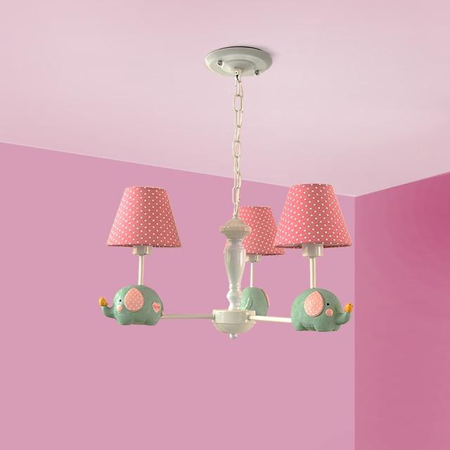 3LT lindo pie bebé elefante lámparas imitación tela textura niños favoritos luces habitación decoración INS estilo luces