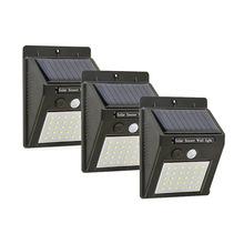 Solar Garden Light 30 LED zasilany energią słoneczną czujnik ruchu PIR wodoodporna Lampa zewnętrzna Oświetlenie dekoracyjne lampy ścienne bezprzewodowe tanie tanio Słoneczne Brak Nowoczesne 1 lata życia CCC RoHS CE FCC 3 7 w V YY603 Bateria litowa Akumulator solarny Aityvert (w)
