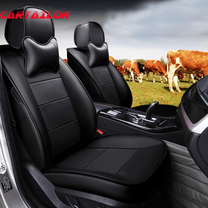 CARTAILOR Cowhide Cover Car Seats For BMW X5 Seat Covers
