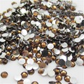 1000pcs 2 mm - 6 mm Mixed Size charming beautiful  Dark Brown 14 facet round diamond sparkling acrylic nail art decoration N18