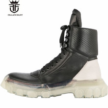 New Handmade UL TOP Fashion Genuine Leather Transparent bottom Lace Up personalized Martin Men Boots