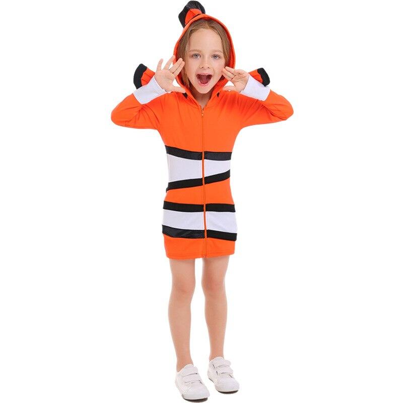 Enfant confortable Orange Clown poisson trouver Nemo mer thème fête Halloween Cosplay enfants Costumes de Performance