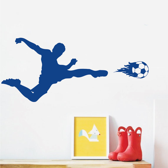 Sports Wall Decal Soccer Art Sticker For Kids Bedroom Sports Football Home  Bedroom Decor Mural DIY Removale Decal YO 136 In Wall Stickers From Home U0026  Garden ...