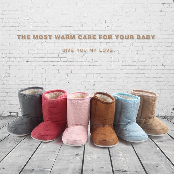Winter Snow Boot Cotton First Walker Warm Shoes Baby Infant Toddler Moccasins
