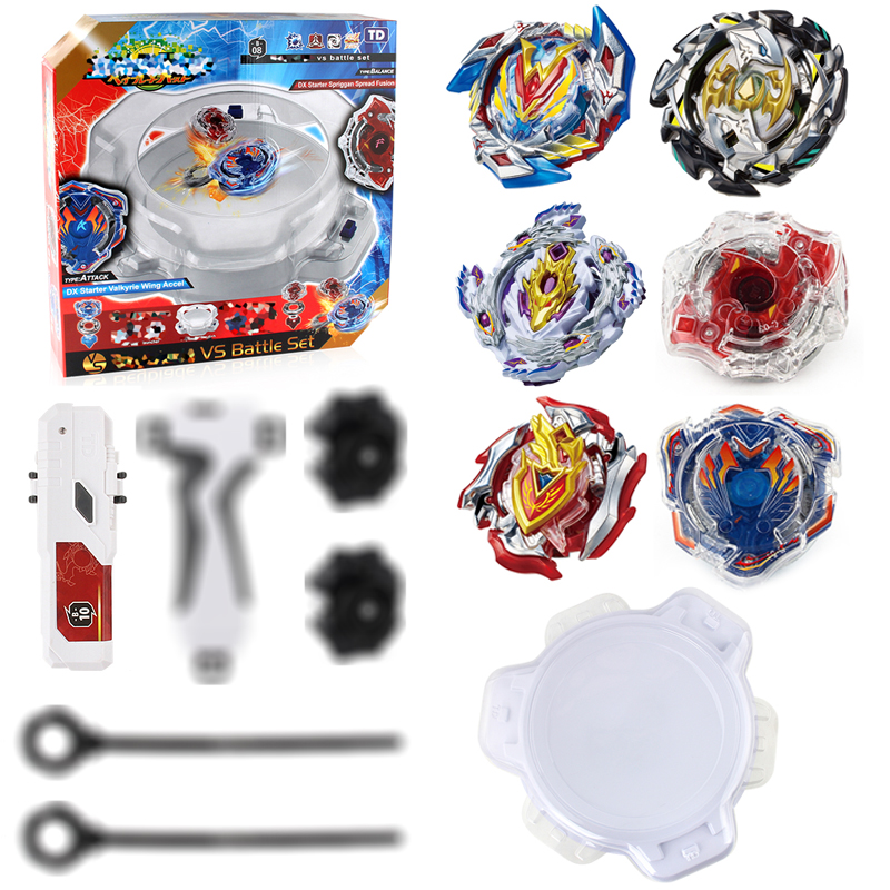Spin Tops Metal Fusion Spin Tops Stadium 6 Gyros+2 Launchers+2 Handles+1 Plastic Arena Spinning Top Toys E