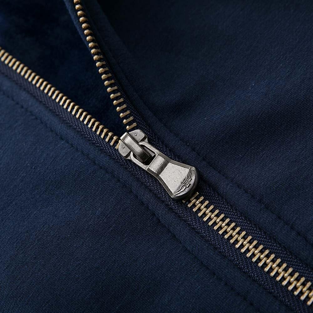 Outono inverno casual manga longa com capuz carta engrossar casaco de jaqueta de vôo 10.22|Jaquetas de ciclismo| |  - title=