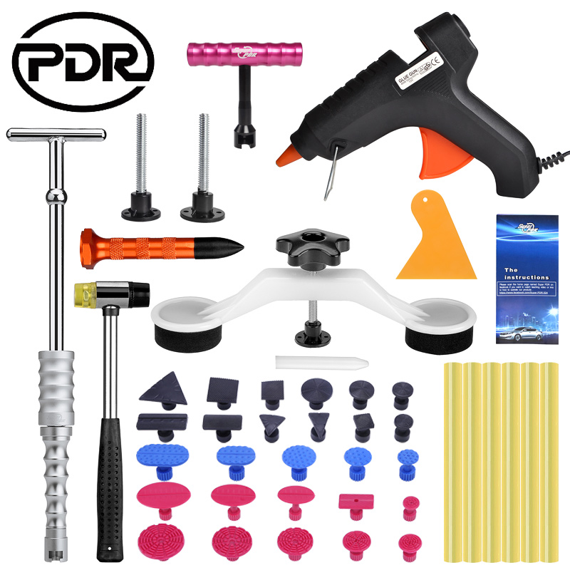 PDR Paintless Car Dent Repair Tools Removing Dent Puller Auto Suction Cup Reverse Hammer Tool Set обратный молоток