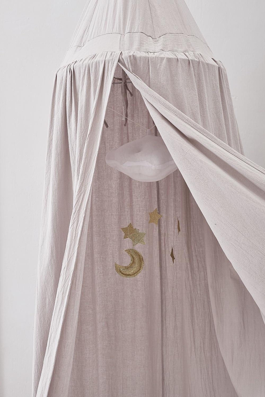 Style nordique jouer maison tentes pour enfants chambre lit rideau bébé suspendu tente berceau bébé chambre décor rond accroché dôme moustiquaire