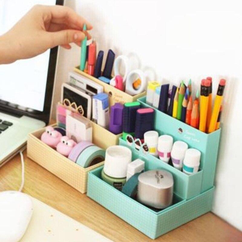 DIY Storage Box Paper Board Desk Decor Stationery Makeup Cosmetic Organ Izer