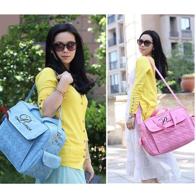 Multifunctional Fashion Designer Baby Diaper Bags Mother Baby Diaper Backpack Mother Shoulder Bag Maternity Baby Stroller Bag