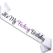 1 pcs Creativo È Il Mio Compleanno White Satin Sash Di Compleanno Fiocchi e Fasce Divertente Di Compleanno Forniture Favore per la Festa Di Compleanno Decorazione
