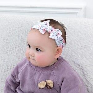 4 шт./лот, милые эластичные повязки на голову с бантом для маленьких девочек, повязка на голову для детей, аксессуары для малышей, повязка на г...
