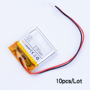 10pcs/Lot 302323 3.7V 130mAh Rechargeable Li-Polymer Li ion Battery For Bluetooth earphone  mp3 mp4 AHB302323/Street2  BT3030
