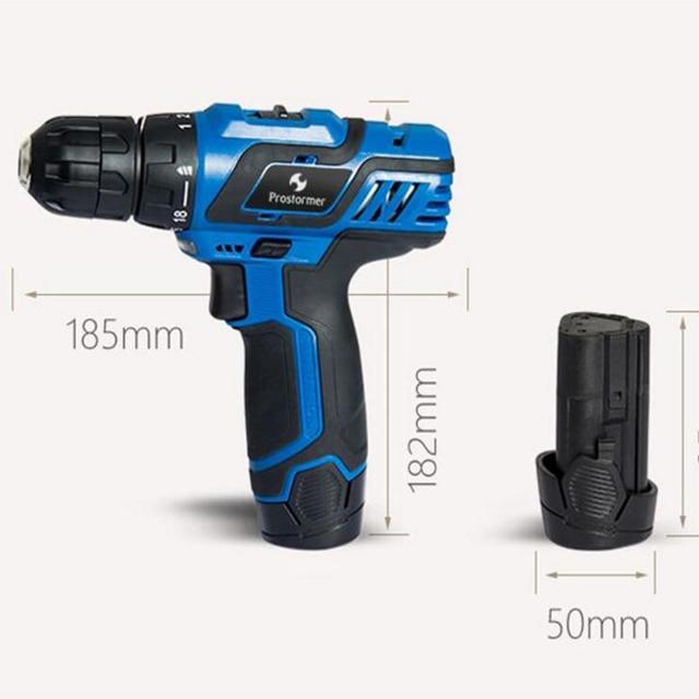 Prostormer12V/3.6V electric drill/screwdriver multifunction handheld convenient woodworking can choose various plugs EU/AU/UK/US 1