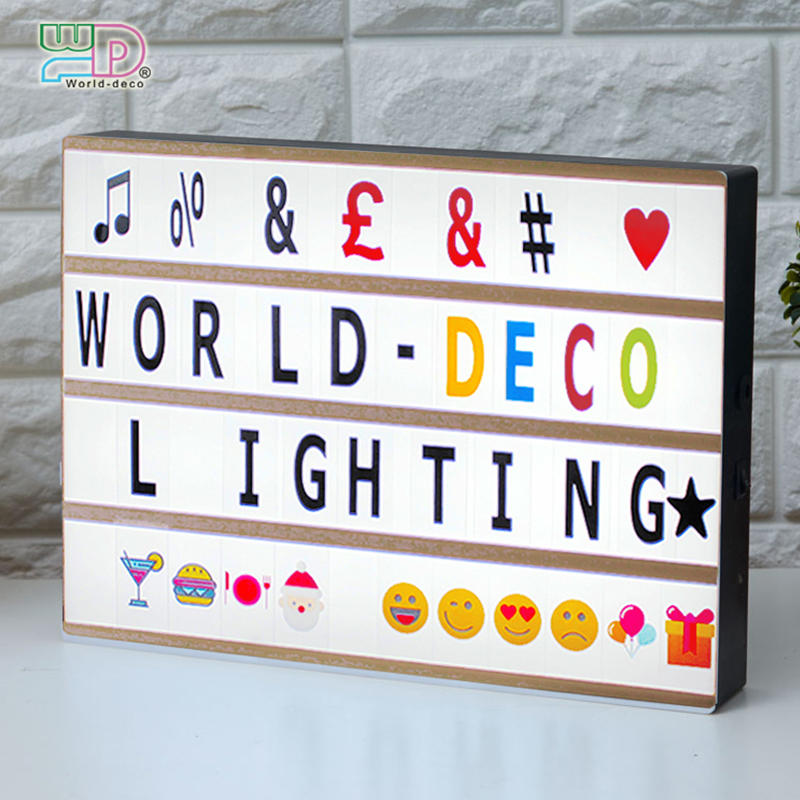 A3 Cinematic Light Box With 100 Letters Symbols Emojis Battery