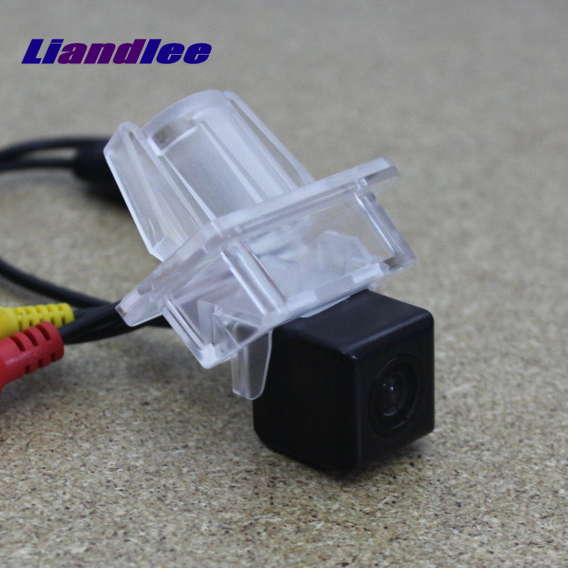 Liandlee Parking Rear Camera For Mercedes Benz C180 C200 C280 C300 C350 C63 / Car Reverse License Plate Lamp Camera image