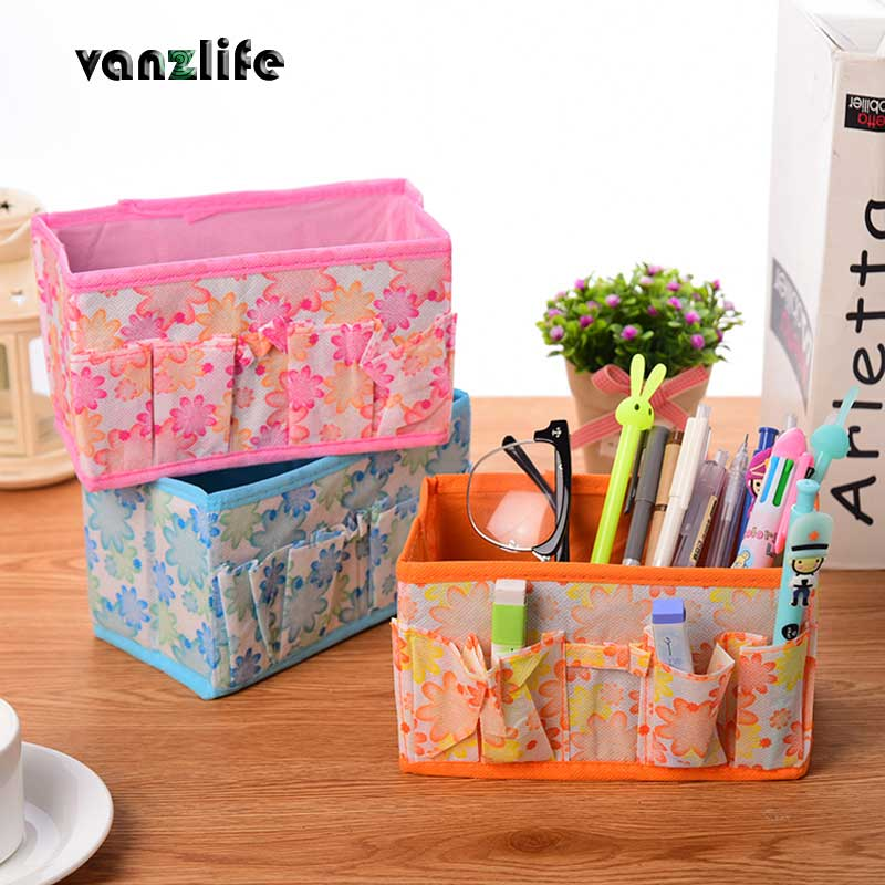vanzlife space collection of cloth art desktop storage box creative cosmetics large capacity storage boxes