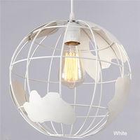 White European Retro Iron Earth Pendant Light Dinning Room Bedroom Suspension Hanging Lights AC110V/220V E27