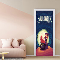 Witch Poison New 3D Horror Door Sticker Removable Halloween Party Decoration Living Room Decor DIY Festival Poster
