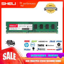 SHELI RAM 8GB 2RX8 PC3-12800 DDR3-1600MHz 240Pin DIMM Intel Low Desktop Memory