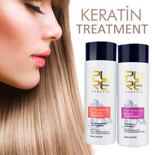 PURC Straightening hair Repair and straighten damage products Brazilian keratin treatment + purifying shampoo PURE 11.11