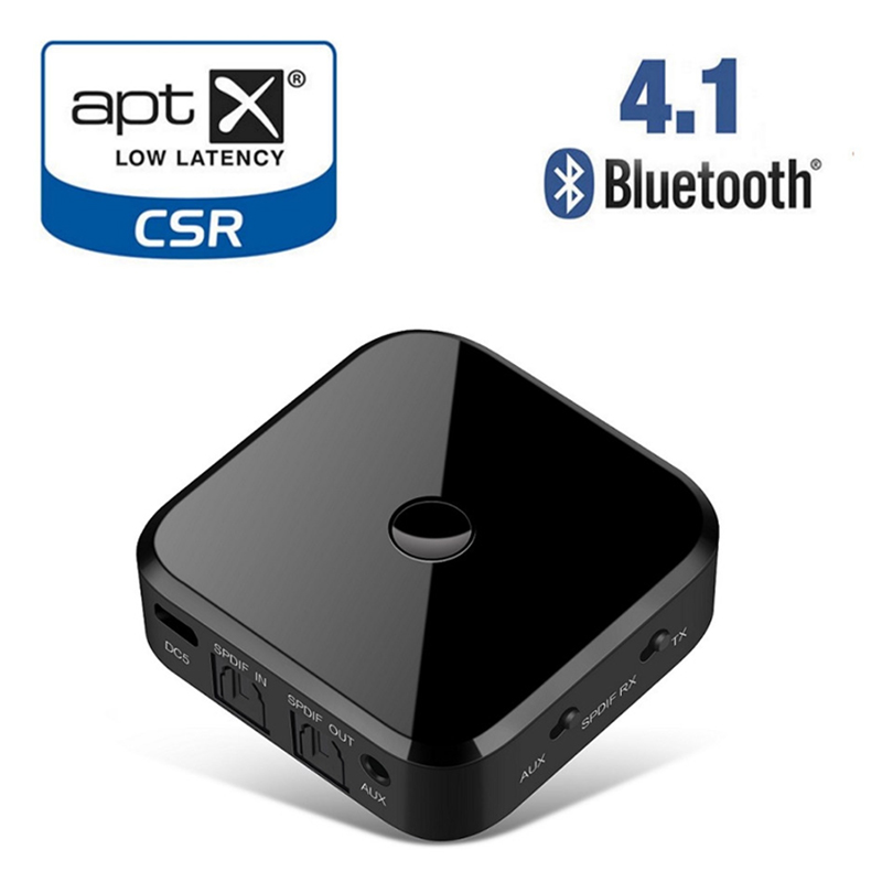 Apt x HIFI Wireless Adapter Bluetooth Receiver Transmitter Audio 3.5mm SPDIF Optical Fiber For Smartphone PC TV Headphone STB