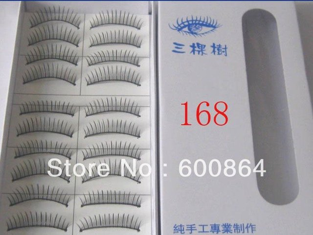 50pairs 168# Fashion Eyelashes eyelash extension False Eyelashes Fake Eyelashes artificial eyelash Hand made Eye lash
