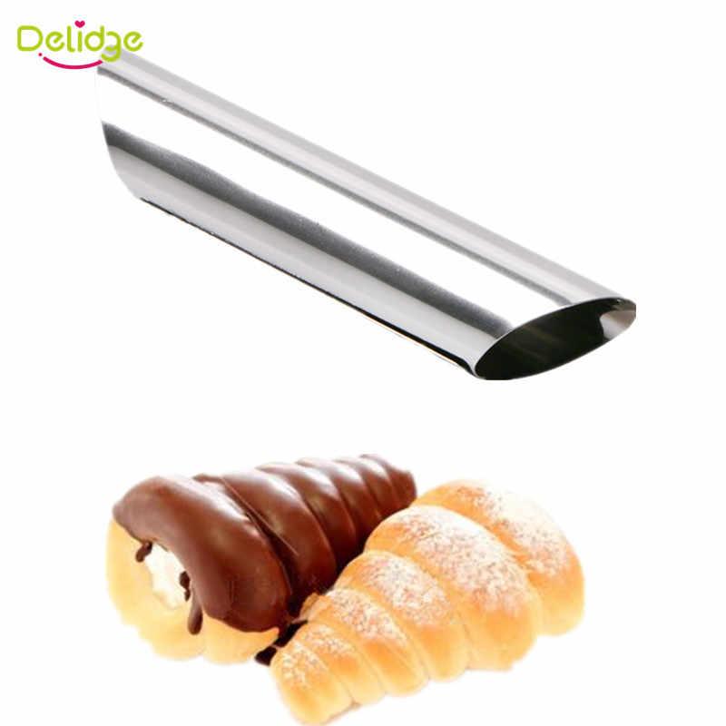 Delidge 3 قطعة/المجموعة الدنماركية الخبز العفن الفولاذ المقاوم للصدأ كانولي أشكال الخبز العفن الخبز لفات الحلوى المعجنات كريم العفن مجموعة