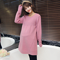 2017 new elegant maternity sweaters pullov for fall long pregnancy sweater sweatshirt plus women's clothing pregnant clothes