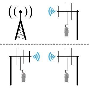 Image 5 - Antena alta do ganho de yagi de retevis ailunce ay01 ay02 ay03 ay04 com a antena fêmea do walkie talkie da liga de alumínio do conector da frequência ultraelevada