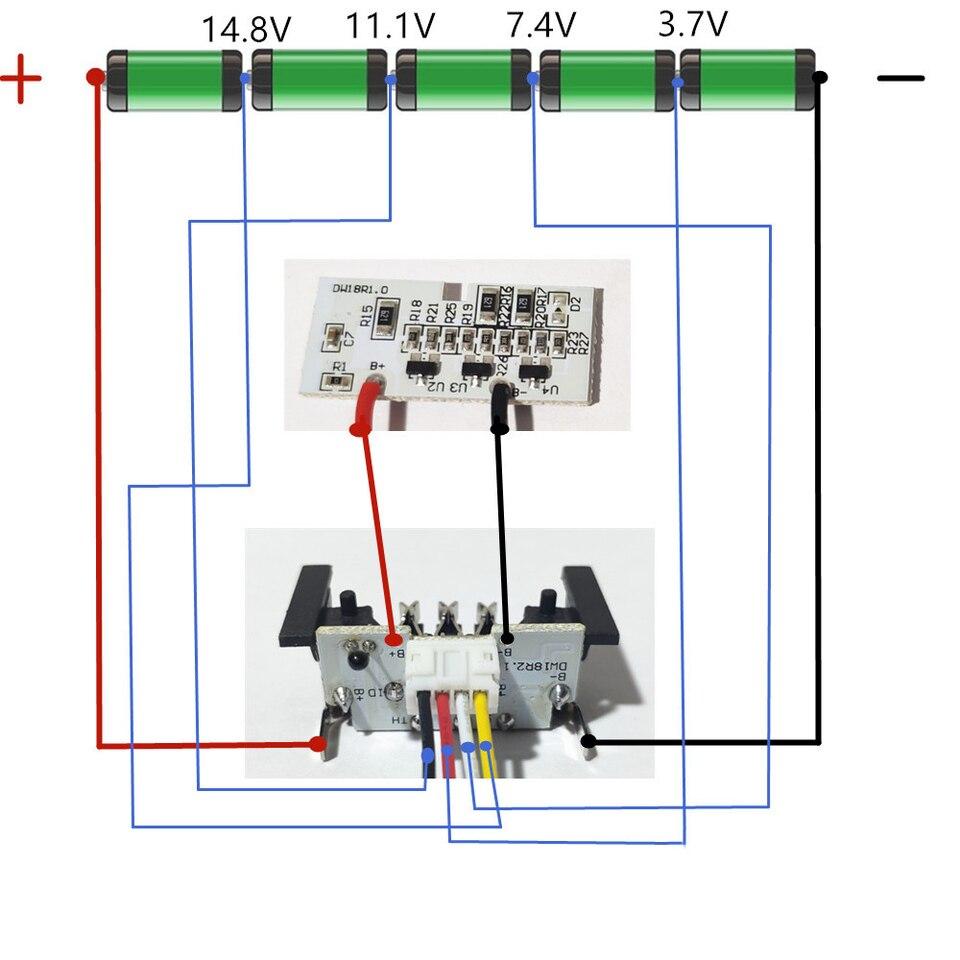 de walt motor wiring diagram for dewalt 18v 20v 1 5ah dcb200 li ion battery pcb circuit board  for dewalt 18v 20v 1 5ah dcb200 li ion