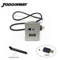 Noir et argent USB/AUX entrée adaptateur mini câble USB slot interface bouton accessoires pour ford focus 2 mk2 2009 2010 2011