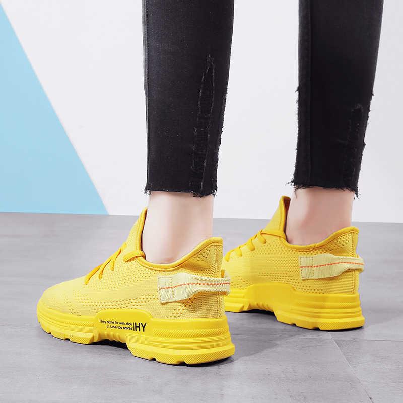 2019 kobiet Sneakers Ins Port wiatr moda dzikie buty typu tide kobieta latające tkane buty damskie Tenis Feminino Chaussures Femme