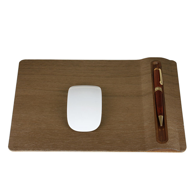 Luxury Computer Mouse Pad Wrist Rest Wooden Mouse Pad Wrist Protect For Desktop PC Computer Laptop For Macbook Air Pro ...